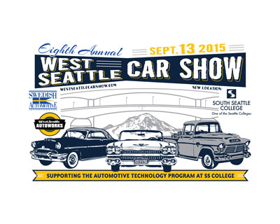 WEST SEATTLE CAR SHOW SEPTEMBER 13TH AT SOUTH SEATTLE COLLEGE!